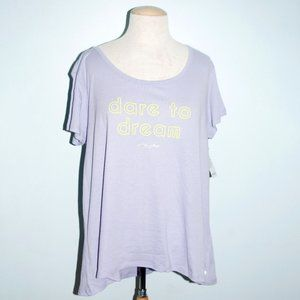 "Betsey Johnson - ""Dare To Dream"" T-shirt - SZ XL"